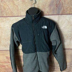 The North Face Mens Fleece Jacket Gray Black M